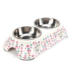 L'animale domestico amichevole della melammina di Eco di stile unico su ordinazione all'ingrosso fornisce la ciotola dell'alimento di cane