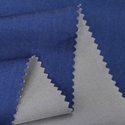 China proveedor azul suave 59/35/6 Tencel Polyester Spandex Denim tejido antiestático Jeans Stretch Twill tejidos resistentes al fuego para proteger el tejido Denim