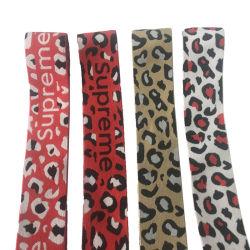 Tessitura di nylon della cinghia del cotone del poliestere del tessuto tessuta jacquard di alta qualità della stampa elastica del leopardo per gli indumenti 2inch 50mm