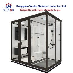 سعر الصين وحدات قابلة للتعديل كاملة جناح مسبق الصنع دش مركبة RV غرفة بتصميم فندق، حمام زجاجي، غرفة استحمام، للبيع