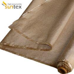 Tissu résistant au feu le tissu de verre à haute température traité à la chaleur tissu en fibre de verre de la soudure du rouleau de contrat cadre