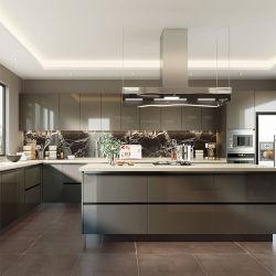 كوانغ تشو المطاط الخشب خزائن الأثاث تصاميم صور من مخصص حديث مجموعة خزانة مطبخ ذات وحدات صغيرة الحجم