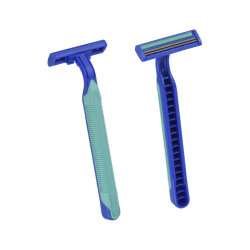 Sandvikスウェーデンのゴム製グリップの双生児の刃の使い捨て可能な剃るかみそり(KD-2006L)