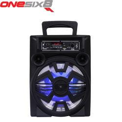 Reproductor de Karaoke profesional altavoz portátil Bluetooth Altavoces Carro de plástico con Mic