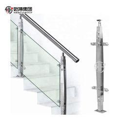 De Balustrade van het Glas van het roestvrij staal voor OpenluchtBalkon
