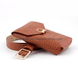取り外し可能な財布が付いている新しい流行の正方形のバックルのワニPUベルト