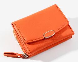 Portafogli personalizzati di alta qualità Donna Moda zip Coin Purse Small Portafoglio per la fabbrica di Guangzhou Signore con patta