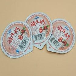 غطاء بلاستيكي ألومنيوم ورق ألومنيوم سهل التقشير بطانة مانع تسرب لبن زبادي/غطاء/غطاء