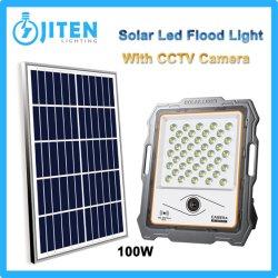 200W LED Solar Holofote do painel com o sistema de energia para a parede exterior do pátio com jardim Street Park Usar Alta Industrial Iluminação do Compartimento da lâmpada da canópia