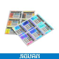 Produits des technologies de lutte contre la contrefaçon autocollant holographique Anti-Fake étiquette avec numéro de série code QR Code à barres gratter l'impression