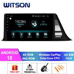 Witson Android 10 de navegación GPS de coche Toyota Chr 4GB de RAM 64 GB de memoria Flash Pantalla grande en el coche reproductor de DVD
