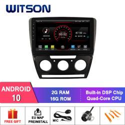 "Witson gran pantalla de 10,2"" de Android 10 Alquiler de DVD para Volkswagen Skoda Octavia (MANUAL A/C) 2010-2014"