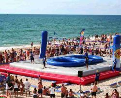 2020 Domaine de volley-ball de plage gonflable jeu