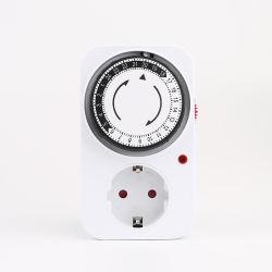 Il convertitore di potere astuto di commutazione dello zoccolo di standard europeo 24 ore di appuntamento ricicla il temporizzatore per il sistema idroponico dell'interno