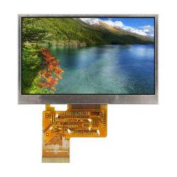 لوحة لمس LCD TFT RGB 24 بت مضادة للأصابع مقاس 4.3 بوصة وحدة شاشة LCD للطاقة USB