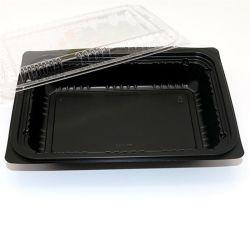 Retire o retângulo caixas descartáveis salada de bolo alimentar arroz caixas de carregamento do contentor efectuar casas