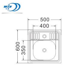 Настраиваемые современной моды из нержавеющей стали в ванной комнате мини-раковину 500*600 мм
