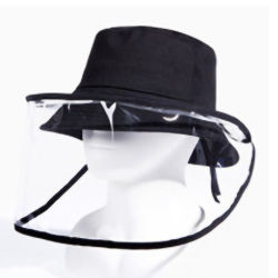 قبعة الوجه الواقية من الدستنة المصنوعة من البولي يورثان المتلدن بالحرارة (TPU) الخارجية غير المتمثلة في البولي يورثان المتلدن بالحرارة ( قبعة صياد بحجم قابل للضبط لمكافحة الضباب