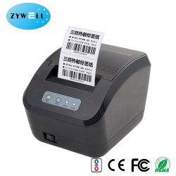 Los pequeños 3pulgadas 80 mm Desktop Inkless código de barras Impresora de etiquetas etiqueta térmica