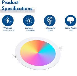 precio de fábrica ajustable de 12W CIRCUITO Ronda Ultradelgado Panel LED LUZ