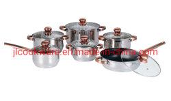 12PCS 고품질 프로모션 코퍼 손잡이가 있는 핫 셀링 용기