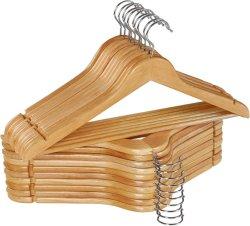 Abiti in legno naturale solidi appendiabiti uomo giacca in legno Abbigliamento appendiabiti in plastica/appendiabiti in legno/in metallo