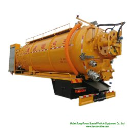 Vacío combinado volando el cuerpo del depósito para la limpieza de alcantarillado (Tanque Vacío carretilla con volar y función de lavado Personalizar 5-20Ton)