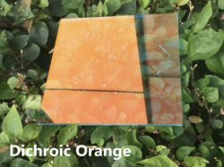4mm 5mm 6mm 8 mm de alto Dichroicc claro cristal/Dazzle Color Arte de vidrio