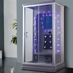 Акриловый серого цвета из прозрачного стекла душевой кабинкой сауны для продажи