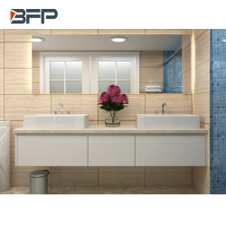 高品質の湿気の防止のラッカー終わりの壁に取り付けられた浴室の虚栄心