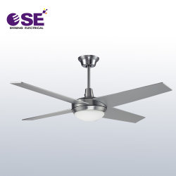 Ventilatore di soffitto decorativo costato metallo da 52 pollici con indicatore luminoso