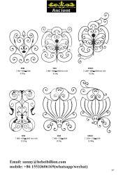 Adornos de hierro forjado rosetas de cercas puertas de las piezas y partes& Escaleras partes (página107).