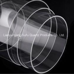 Tubo de vidro de quartzo de grande diâmetro para termopar especificação personalizada as boas-vindas