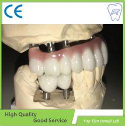 معمل مخصص للمواد الأسنانيّة معمل تحميض الأسنان كامل محيط زيركونيوم التاج بدون البورسلين