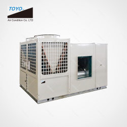 Industrial Commercial refroidi par air emballés sur le toit du système de climatisation avec refroidissement gratuit