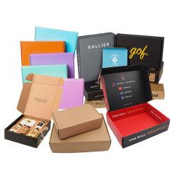 Пользовательский формат печати цветных всеобщей одежду Sock косметический почтовый транспортировочные упаковки подарок коробку из гофрированного картона бумаги .