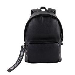 Kundenspezifisches Prägnantes Design Schwarze Leder Windeltaschen Damen Benutzerdefinierte Wasserdichte Rucksack für Männer und Frauen Tasche mit Strip locker Fashion Tasche