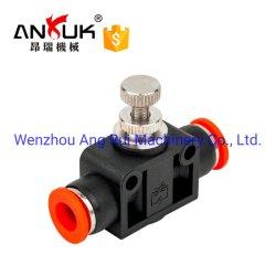 Alta qualidade PA plástico junta de tubo conector de tubos de Conexão Rápida e Válvula pneumática Graxeiras