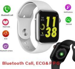 W34 Bluetooth Puls-Monitor der Aufruf-intelligenter Uhr-Farben-Screen-Sport-Uhr-ECG kompatibel mit androidem IOS