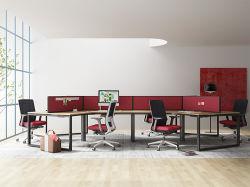 Mobilia utilizzata aperta della stazione di lavoro dell'ufficio della persona del nuovo modello 6 di disegno moderno del rifornimento della fabbrica