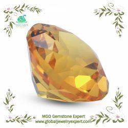 MGO Joya Ronda/Rectángulo Octangle Pear//// Corte cuadrado corazón sintético Lab el corindón amarillo Zafiro Precio al por mayor