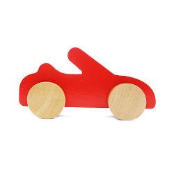 Nouveau mini-jouet en bois rouge d'âge préscolaire des voitures pour les enfants