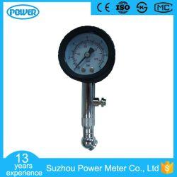 40mm em aço inoxidável com medidor de pressão de pneu do carro da Válvula Rotativa
