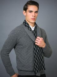 スクリーンは100%年のカシミヤ織の紳士のマフラーのスカーフを印刷した
