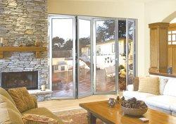 Matériau de construction Bi-Fold /Porte pliante en aluminium couleur noire/argentée pour la maison