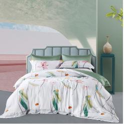 2021 Novo Padrão 60s Lenzing Tencel)/Algodão/fibra de bambu/tecidos de poliéster para folha de Conjuntos de roupa de cama
