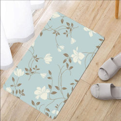 Eco Friendly matériel Polyester Soft Touch tapis anti-patinage pour la chambre