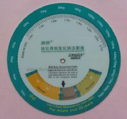 Kaart van de Calculator van de Gift BMI van de geneeskunde de Promotie