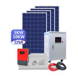 نظام الطاقة الشمسية إيقاف تشغيل الشبكة 5000واط الطاقة الشمسية المنزل 10كيلو واط سعر سريلانكا