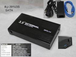 """3.5 """" Disque dur USB 2.0 Cas (RJ-391US)"""